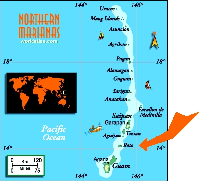 Map of the Northern Mariana Islands